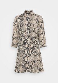 SNAKE MINI SHIRT DRESS - Day dress - natural