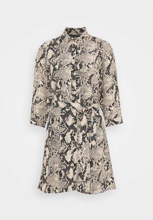 SNAKE MINI SHIRT DRESS - Vestito estivo - natural