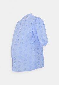 Pieces Maternity - PCMTILLIE 2/4 SHIRT  - Pusero - vista blue - 0
