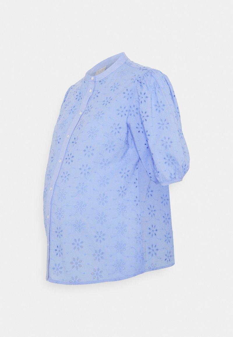 Pieces Maternity - PCMTILLIE 2/4 SHIRT  - Pusero - vista blue
