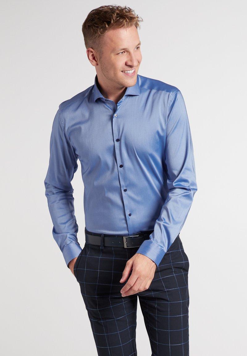 Eterna - SUPER-SLIM - Formal shirt - mittelblau