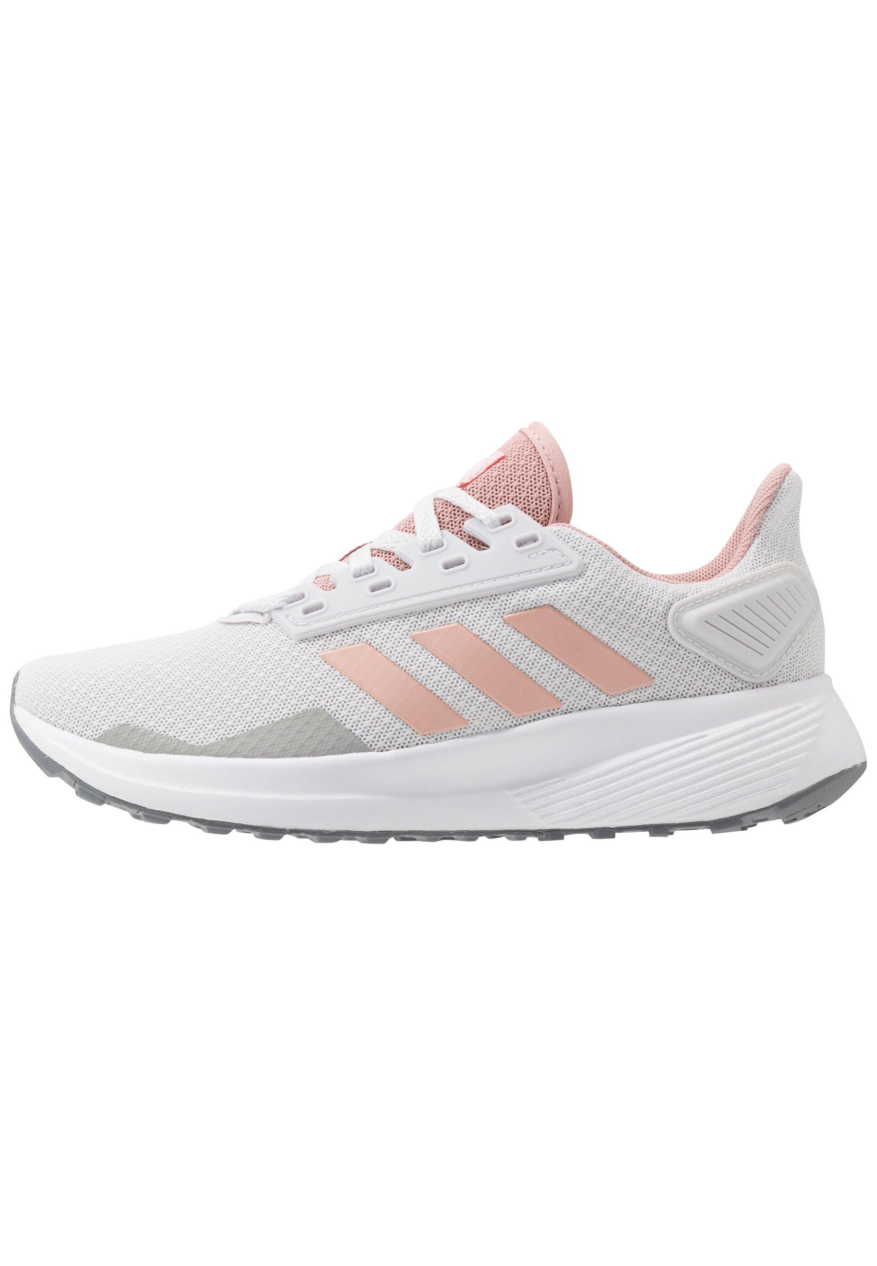adidas Performance DURAMO 9 - Nøytrale løpesko - dash grey/pink spice/footwear white