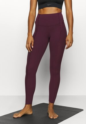 YOGA - Tights - night maroon/team red