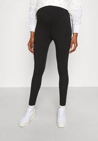 Missguided Maternity - BASIC 2 PPACK - Leggings - Trousers - black/grey marl - 1