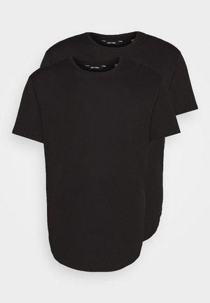 ONSMATT LONGY TEE 2 PACK  - Basic T-shirt - black