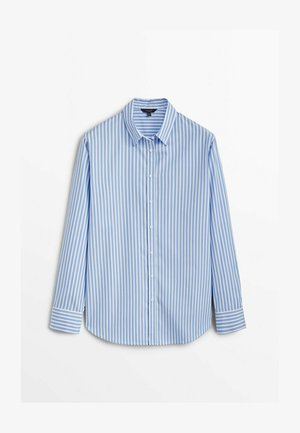 GESTREIFTES - Button-down blouse - light blue