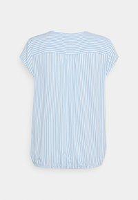 TOM TAILOR - WITH FEMININE NECKLINE - Blouse - blue/white - 1