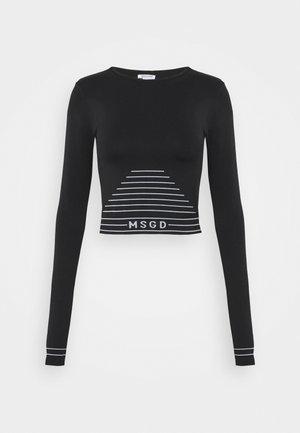SEAMLESS LONG SLEEVE - Long sleeved top - black