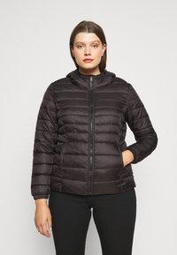 ONLY Carmakoma - CARTAHOE HOOD JACKET  - Light jacket - black - 0
