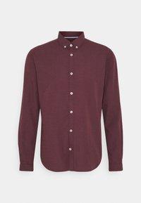 Shirt - burgundy/blue/white