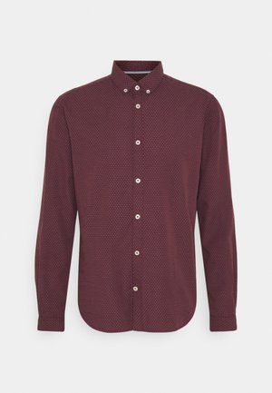 Camisa - burgundy/blue/white