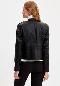 DeFacto - Faux leather jacket - black - 2