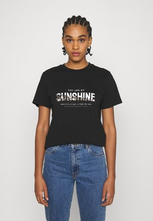 ONLTRACY - Print T-shirt - black