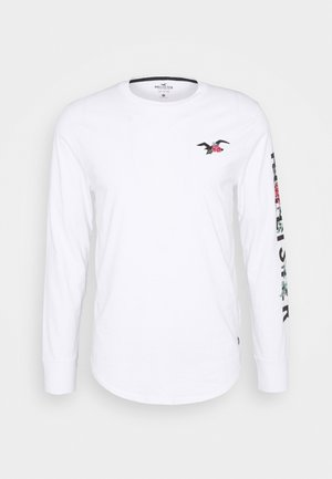ICONIC PRINT LOGO - Long sleeved top - white