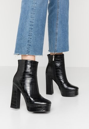 HATTIE - High heeled ankle boots - black