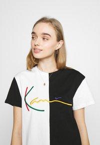 Karl Kani - SIGNATURE BLOCK TEE - Print T-shirt - black - 3