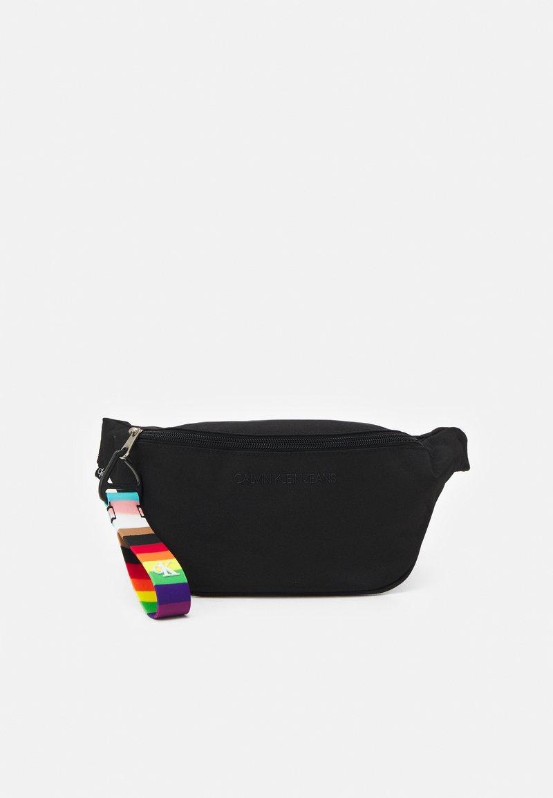 Calvin Klein Jeans - PRIDE WAISTBAG UNISEX - Bum bag - black