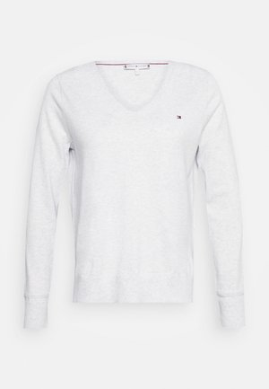 NOLAA - Strikkegenser - ice grey heather