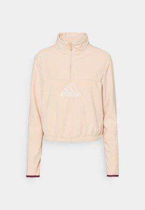 HALF ZIP ESSENTIALS - Fleece jumper - halo blush/white/victory crimson