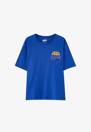 T-shirt con stampa - mottled royal blue