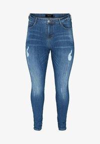 Zizzi - MIT SCHLITZDETAILS - Slim fit jeans - blue - 2