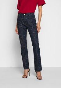 Victoria Victoria Beckham - WORD SEARCH UPSTATE - Flared Jeans - dark blue - 0