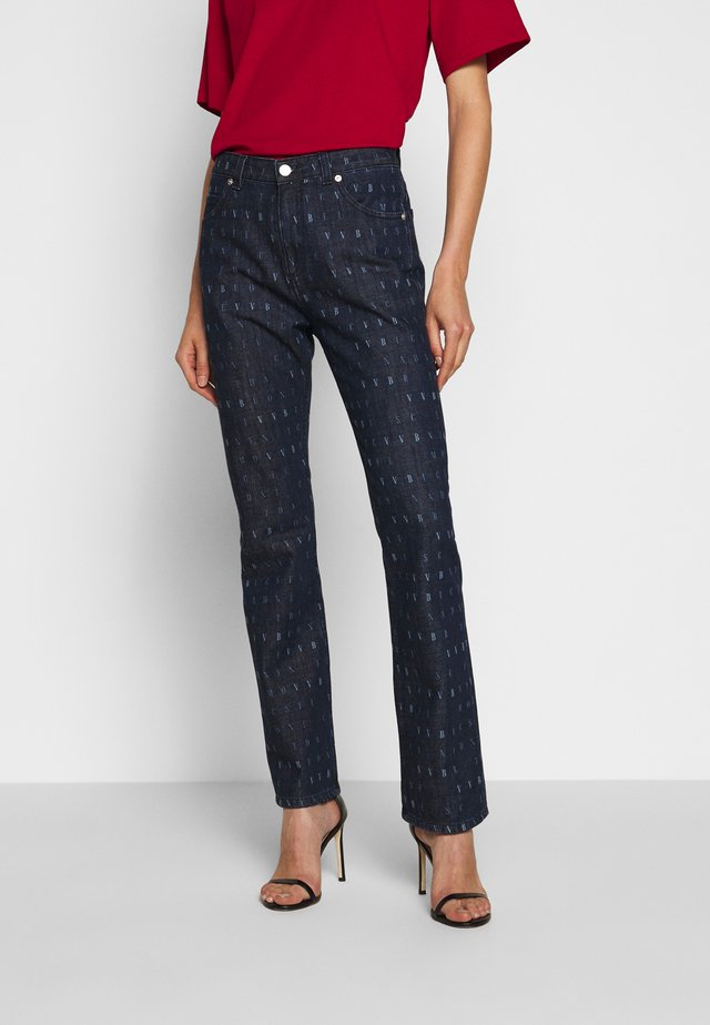 WORD SEARCH UPSTATE - Flared jeans - dark blue