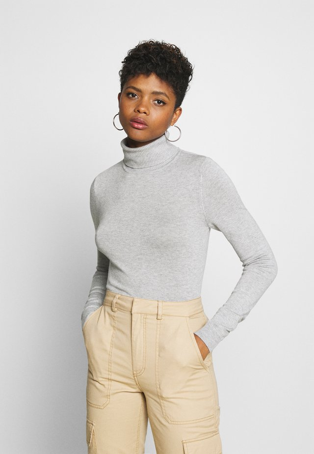 VMGLORY ROLLNECK - Sweter - light grey melange