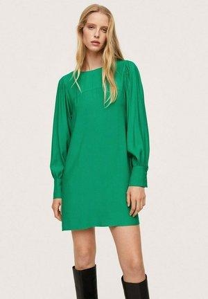 JURK MET POFMOUWEN - Day dress - groen