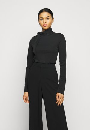 CARISI TIE BLOUSE - Long sleeved top - black