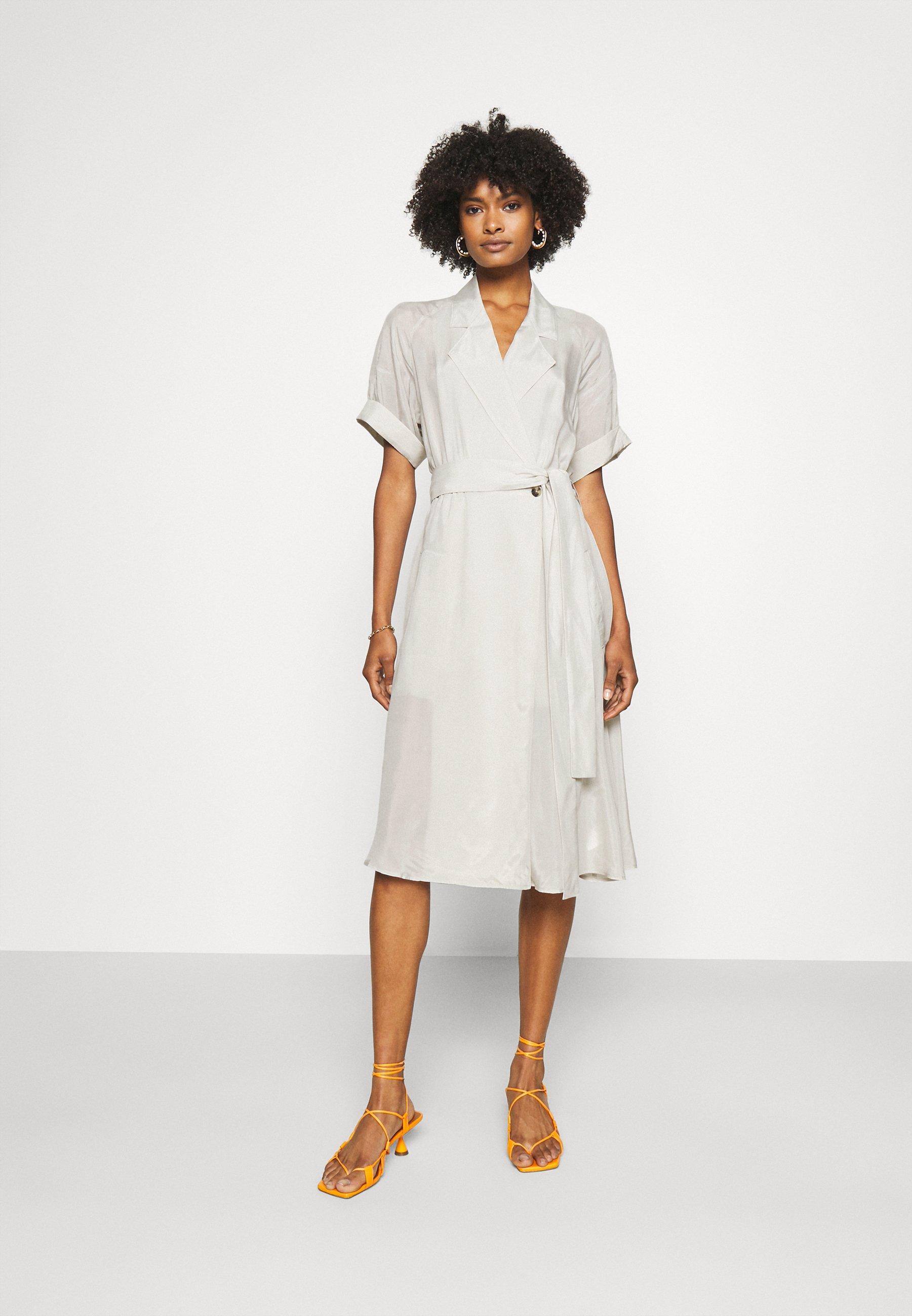 Women TRENCH DRESS - Day dress - silver birch