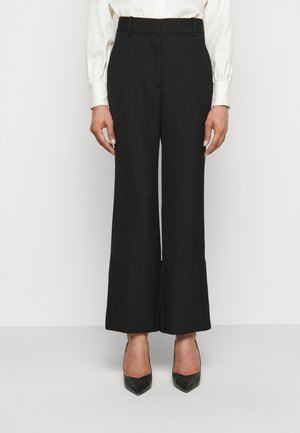 STRAIGHT LEG TROUSER WITH TURN UP - Trousers - black