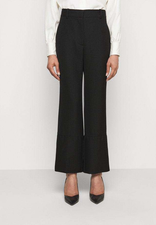STRAIGHT LEG TROUSER WITH TURN UP - Pantalon classique - black