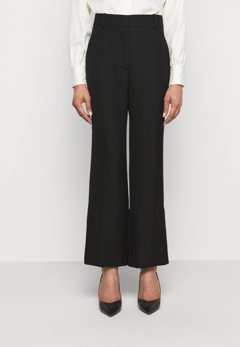 Victoria Beckham - STRAIGHT LEG TROUSER WITH TURN UP - Trousers - black