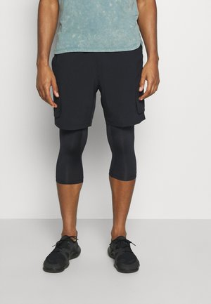 RUN ANYWHERE 2-IN-1 LONG - Träningsshorts - black