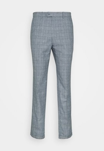 JPRRAY CHECK TROUSER - Trousers - grey melange