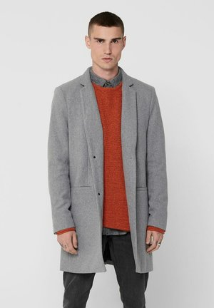 Short coat - light grey melange