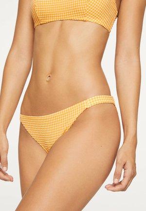 GINGHAM CLASSIC - Bikini bottoms - yellow