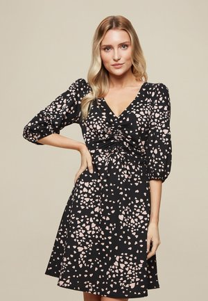 HEART PRINT  - Vestido informal - black