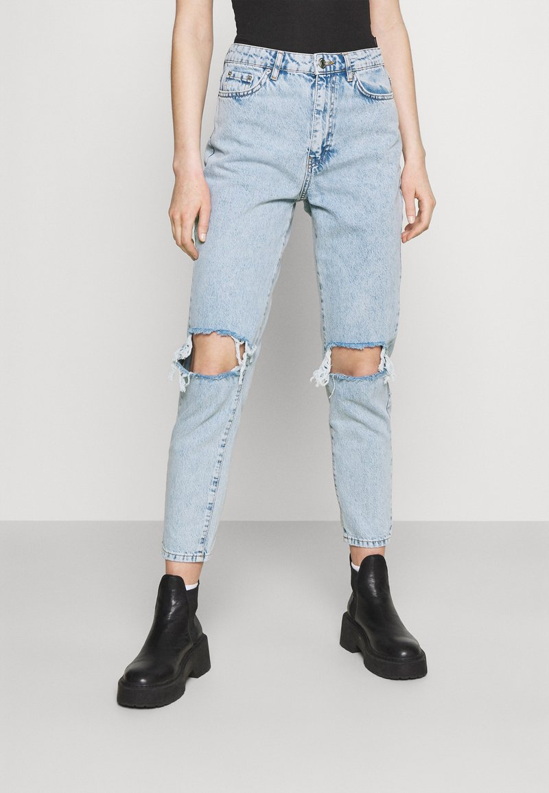 Gina Tricot - DAGNY HIGHWAIST - Relaxed fit jeans - sky blue destroy