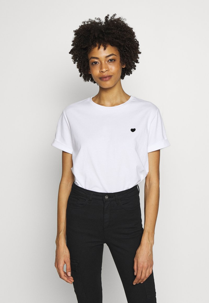 Opus - SERZ - Basic T-shirt - white