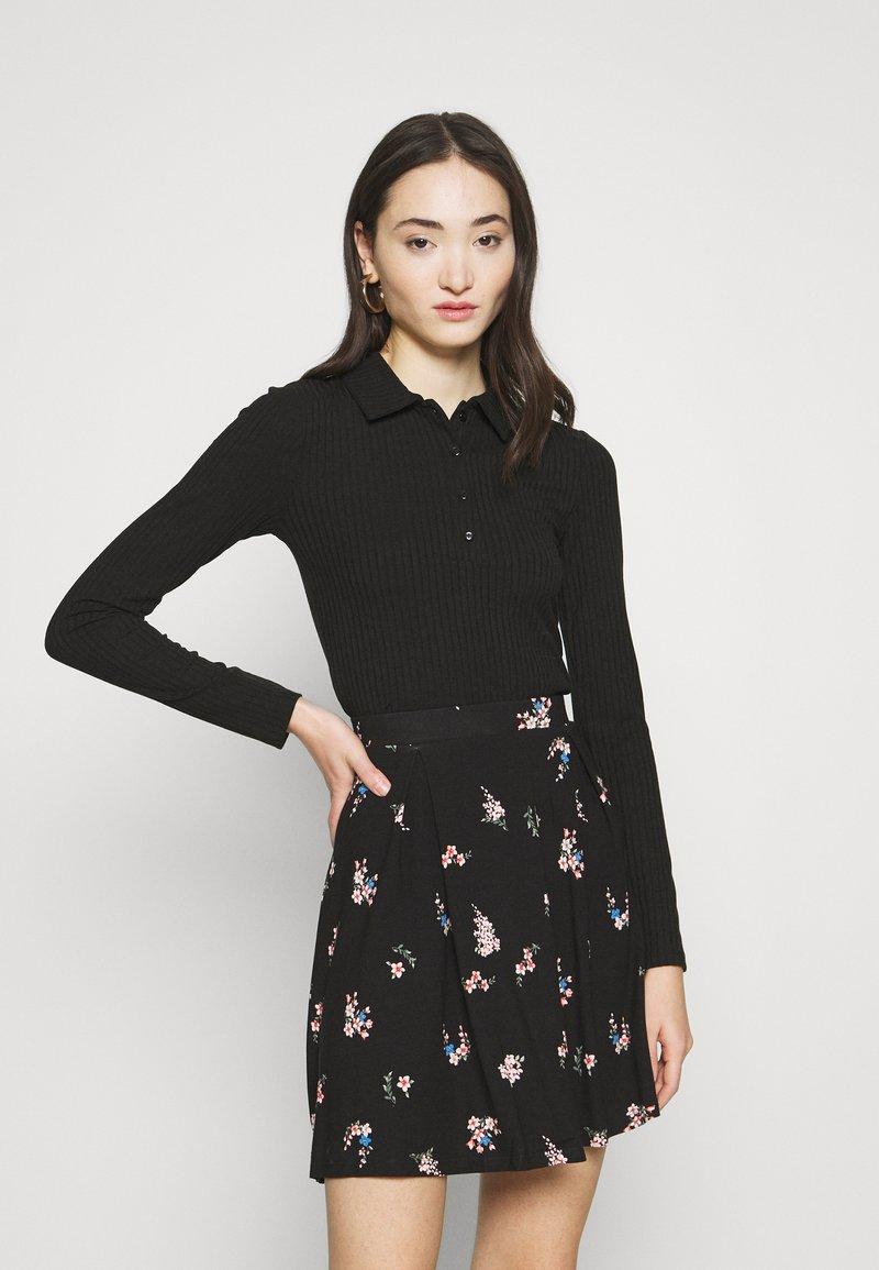 Gina Tricot - POPPY - Polo shirt - black