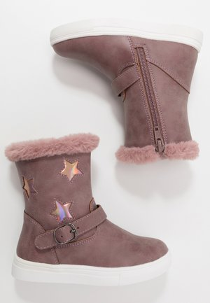 Bottines - mauve