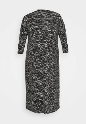 T-SHIRT MIDI DRESS - Mikinové šaty - black