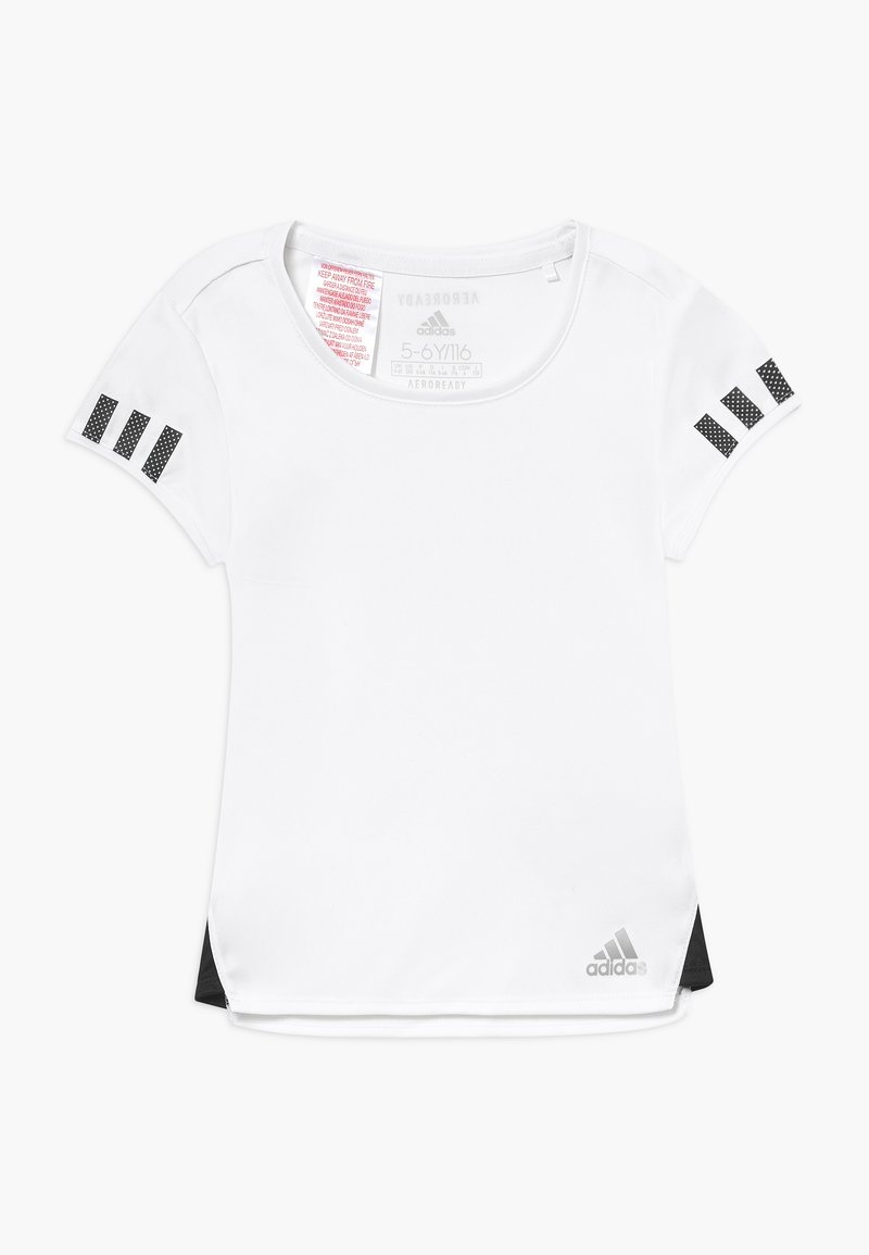 adidas Performance - CLUB TEE - T-Shirt print - white/black