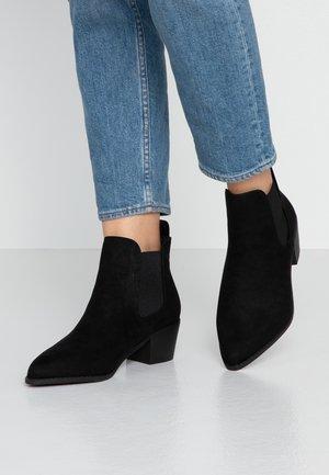 WIDE FIT WHELSEA - Boots à talons - black