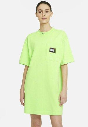 Jersey dress - ghost green/black