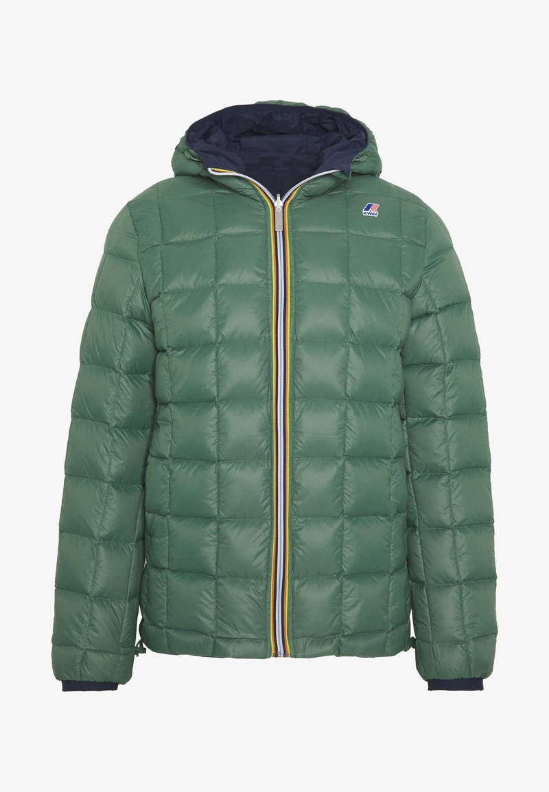 K-Way - UNISEX JAQUES THERMO PLUS DOUBLE - Winter jacket - blue maritime/green darkforest