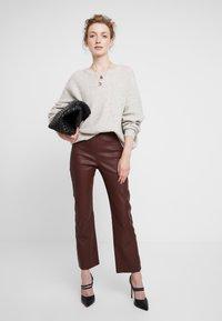 InWear - Kožené kalhoty - bitter chocolate - 1