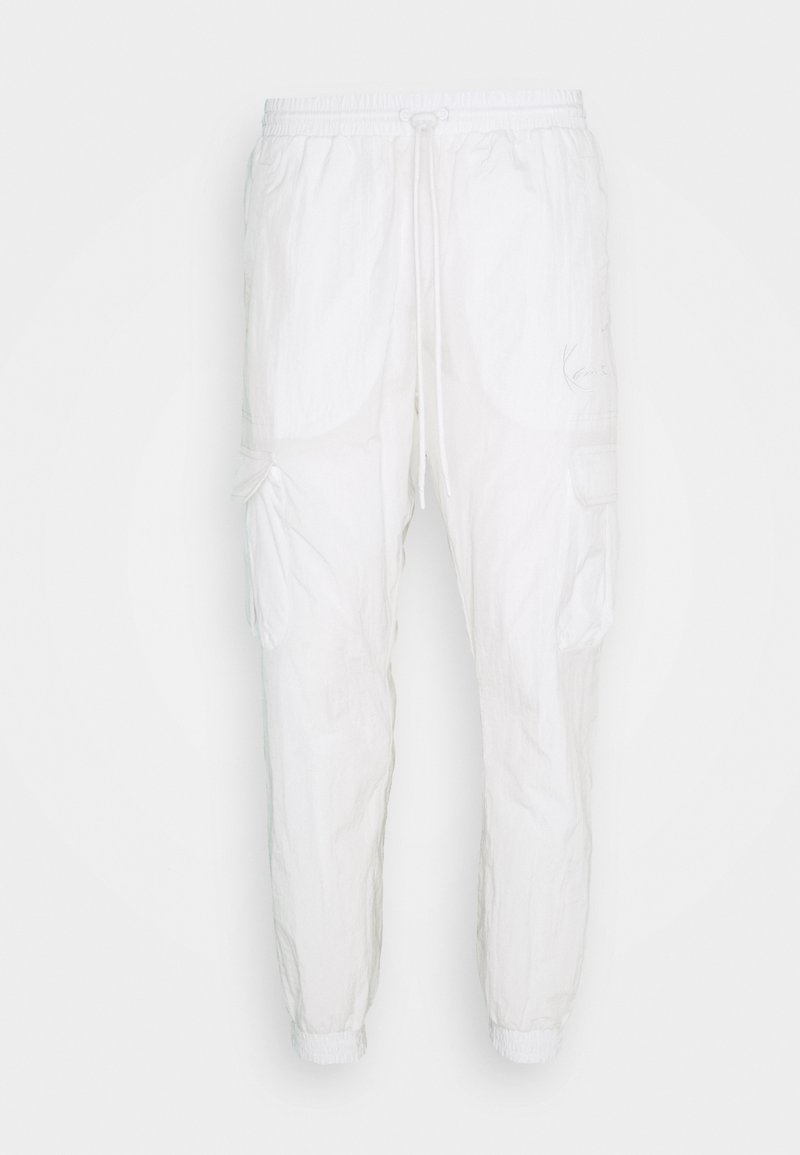 Karl Kani - SIGNATURE TRACKPANTS UNISEX - Tracksuit bottoms - off white